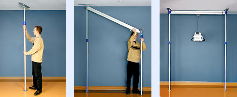 Freestanding lift track systems houston home elevators for Home elevator kits
