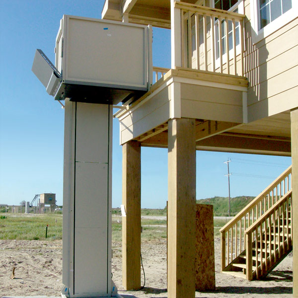 Good Note Wheelchair Entry Ramp In Raised Position. Ramp Lowers Automatically  When The Wheelchair Lift Is
