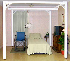 ceiling lift, gantry, home care, Houston, home elevator